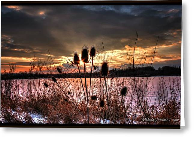 Greeting Card featuring the photograph Sunset At The Pond 4 by Michaela Preston