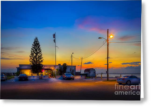 Sunset At The Post Greeting Card by Marvin Spates