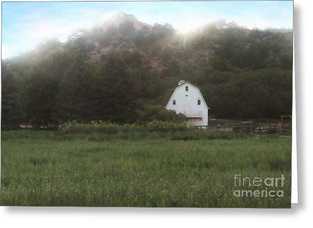 Sunset At The Ranch Greeting Card by Cristophers Dream Artistry