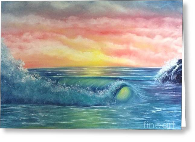 Sunset At The Seashore  Greeting Card
