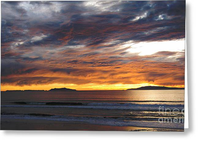 Greeting Card featuring the photograph Sunset At The Shores by Janice Westerberg