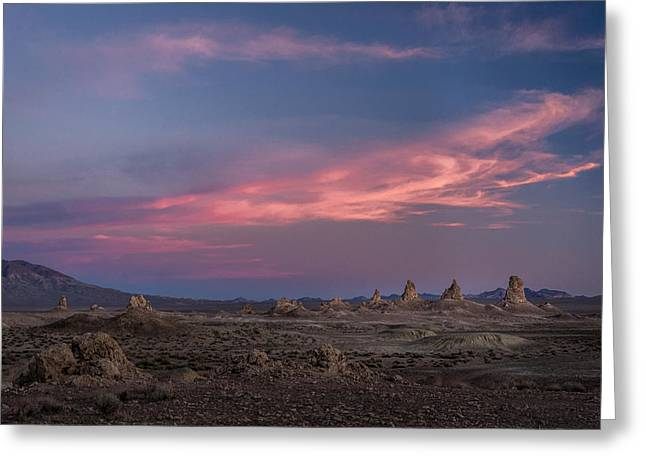 Sunset At Trona Pinnacles Greeting Card by Cat Connor