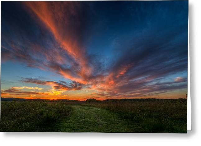 Sunset At Valley Forge Greeting Card