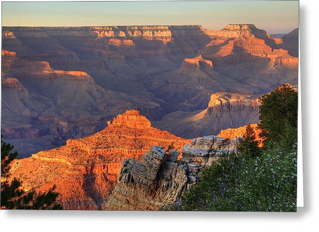 Greeting Card featuring the photograph Sunset At Yaki Point by Alan Vance Ley