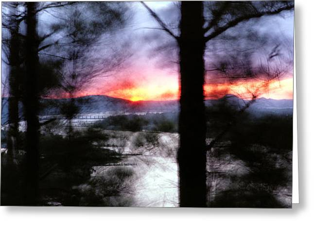 Greeting Card featuring the photograph Sunset Atop Windy Emerald Park by Jason Politte