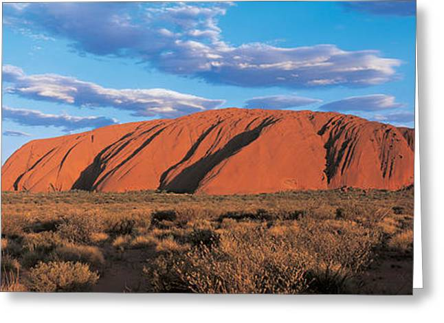 Sunset Ayers Rock Uluru-kata Tjuta Greeting Card by Panoramic Images