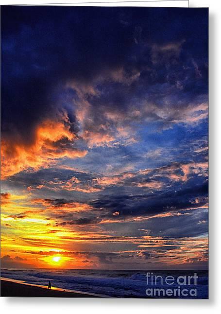Sunset Banzai Beach  Greeting Card by Thomas R Fletcher