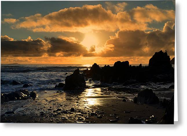 Sunset Greeting Card by Barbara Walsh