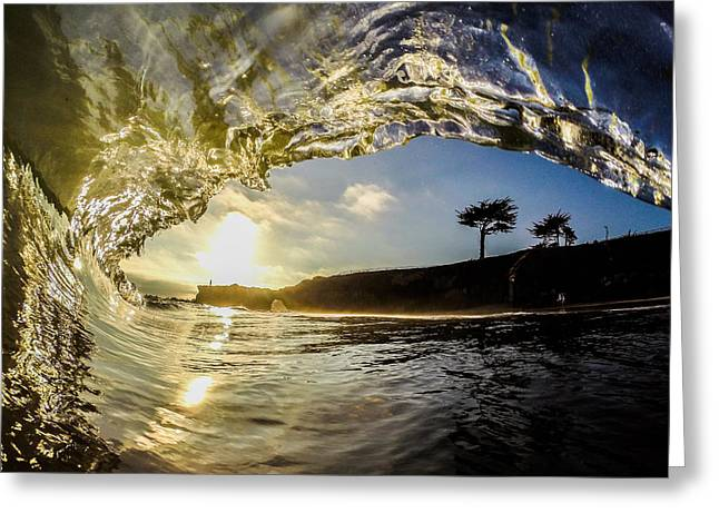 Sunset Barrel Greeting Card by David Alexander