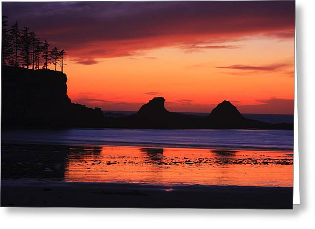 Sunset Bay Sunset 2 Greeting Card by Mark Kiver