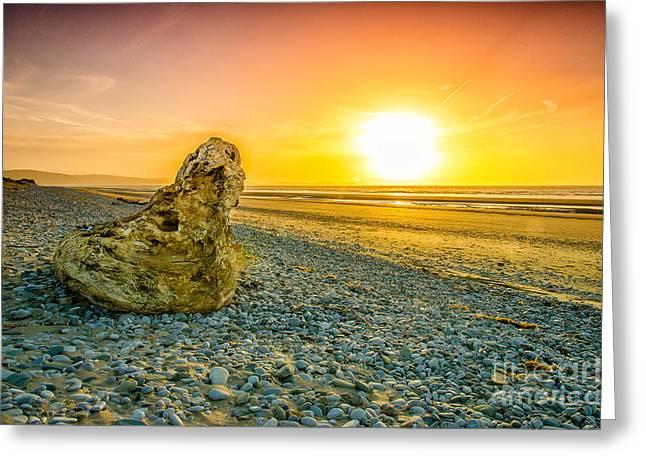 Sunset Beach Greeting Card by Darren Wilkes