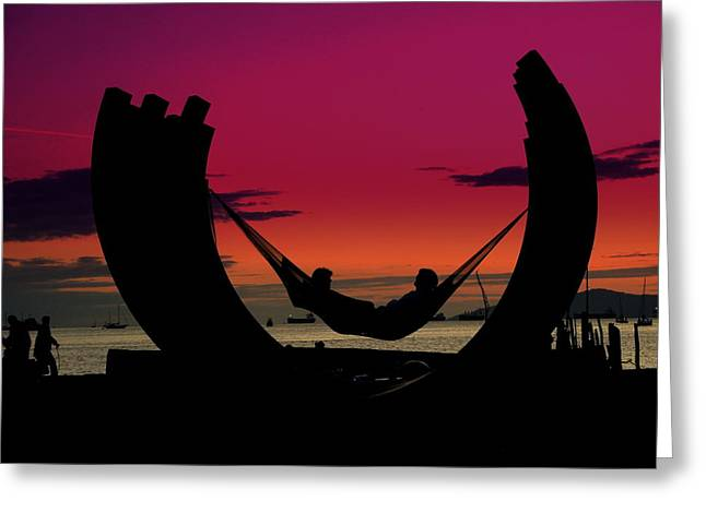 Sunset Beach Relaxation Greeting Card by Brian Chase