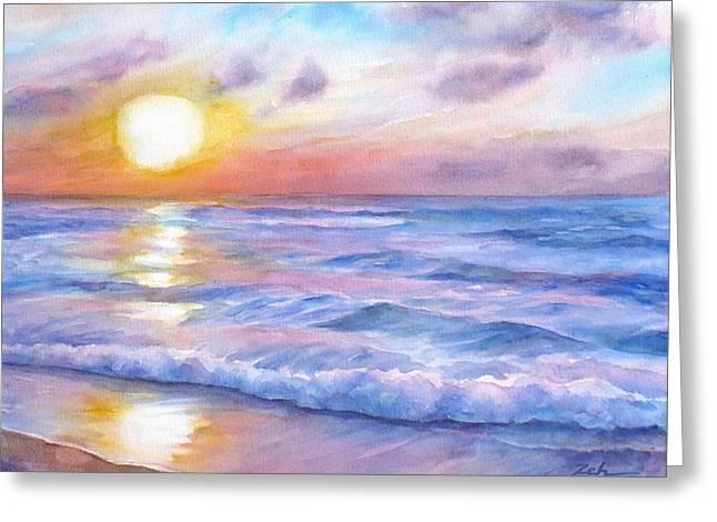 Sunset Beach Hawaii Seascape  Greeting Card