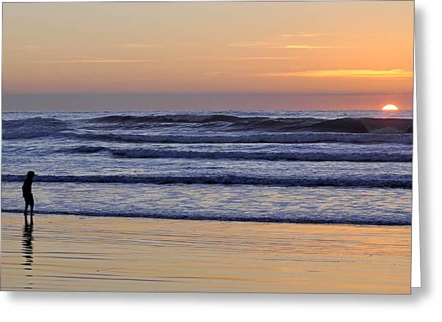 Sunset Beach Stroll  Greeting Card