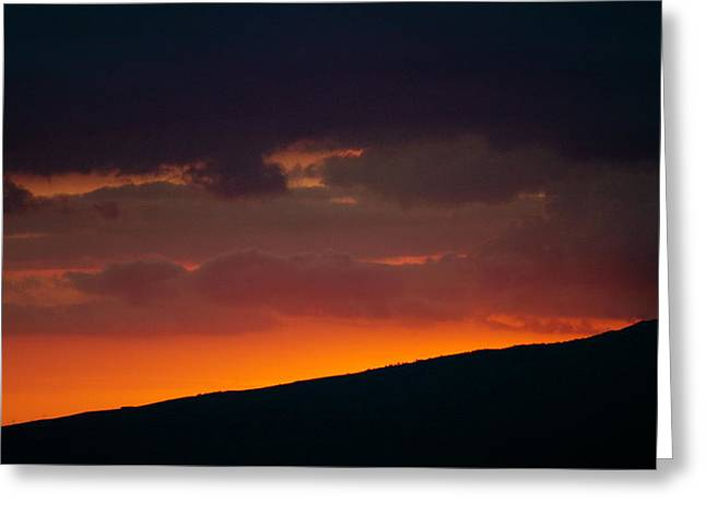 Sunset Beyond The Waianae Mountain Range Greeting Card