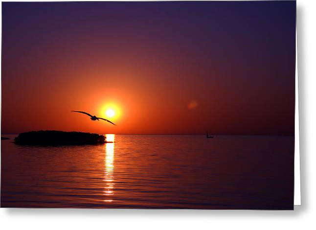 Sunset Blue Greeting Card