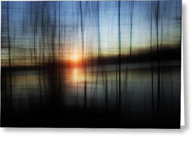 Sunset Blur Greeting Card by Florin Birjoveanu