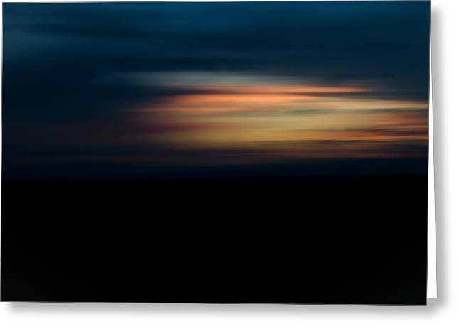 Sunset Blur Greeting Card by Swift Family