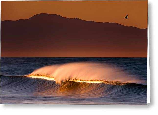 Greeting Card featuring the photograph Sunset Breaking73a0456 by David Orias