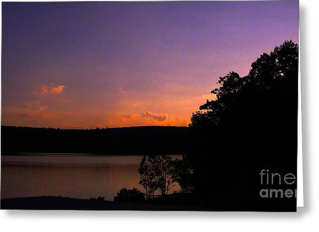 Sunset Greeting Card by Brittany Perez