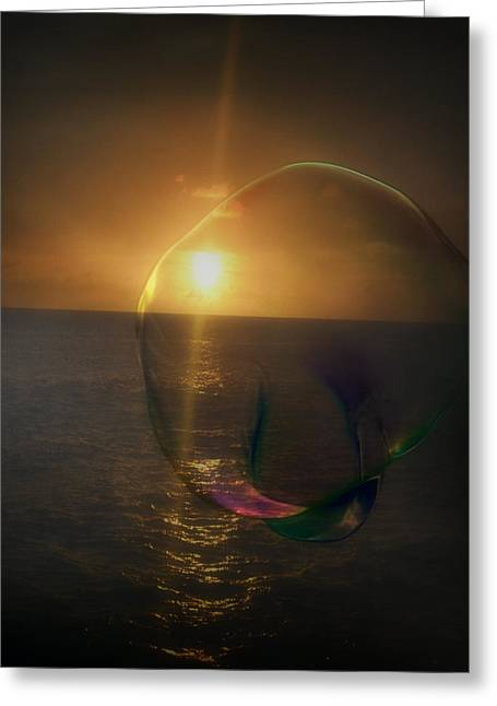 Sunset Bubble Greeting Card