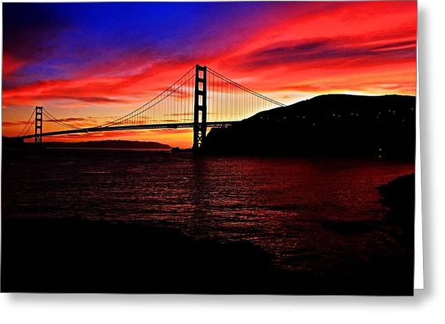 Greeting Card featuring the photograph Sunset By The Bay by Dave Files