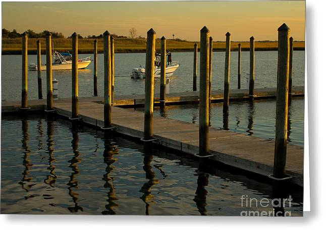 Greeting Card featuring the photograph Sunset By The Marina Two by Jose Oquendo
