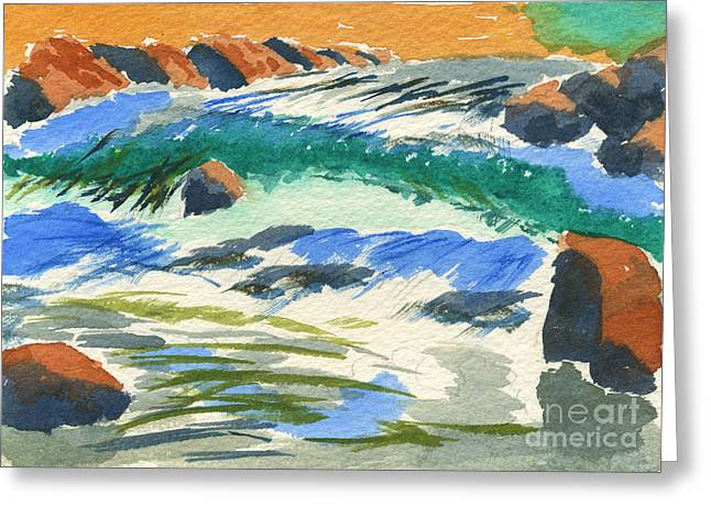 Sunset By The River Greeting Card by Beverly Claire Kaiya