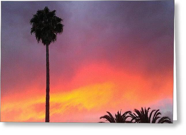 Sunset California Greeting Card
