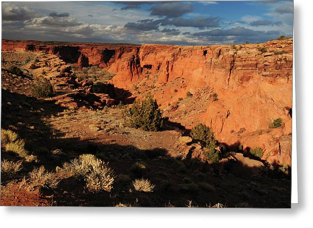 Sunset, Canyon De Chelly, Arizona, Usa Greeting Card by Michel Hersen