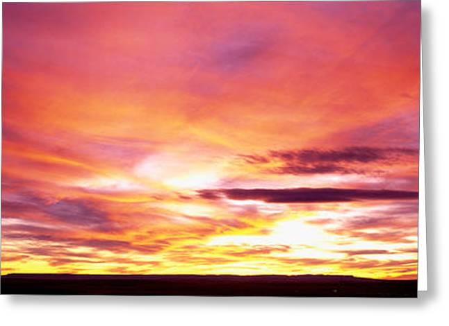 Sunset, Canyon De Chelly, Arizona, Usa Greeting Card by Panoramic Images