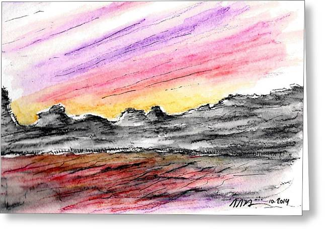 Sunset Canyon Greeting Card