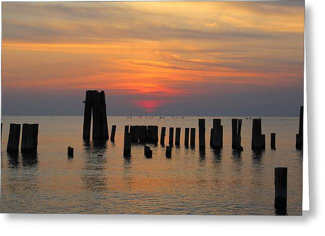 Greeting Card featuring the photograph Sunset Cape Charles by Richard Reeve