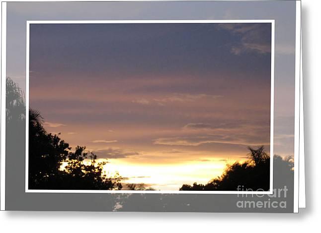 Sunset Card Greeting Card by Oksana Semenchenko