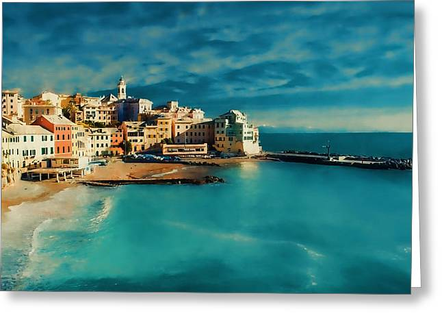 Greeting Card featuring the painting Sunset Cinque Terre by Douglas MooreZart