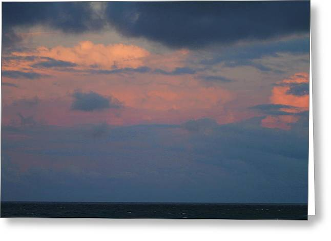 Sunset Clouds And The Ocean 4 Greeting Card by Cathy Lindsey