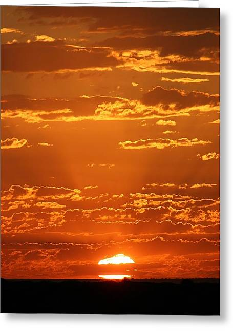 Greeting Card featuring the photograph Sunset Clouds by Henry Kowalski