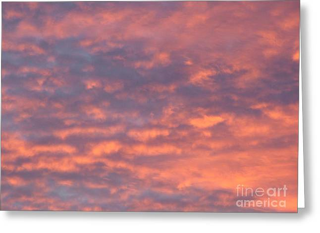 Sunset Clouds Greeting Card by Mark Bowden