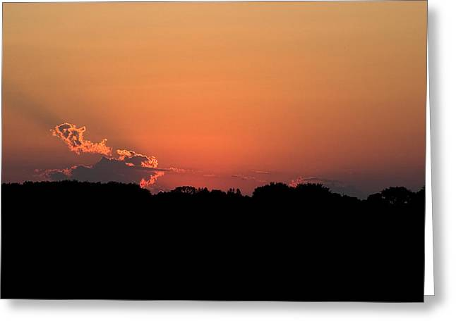 Sunset Clouds Greeting Card by Mark Russell