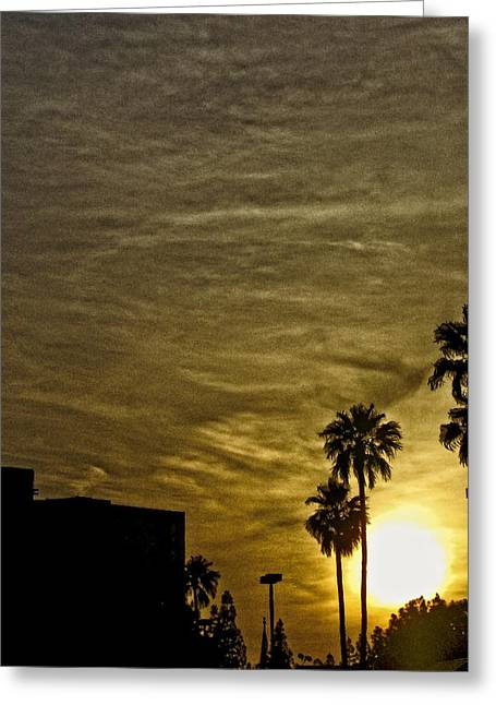 Sunset Clouds Greeting Card by Marquis Crumpton