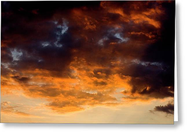 Sunset Clouds Greeting Card by Terry Thomas