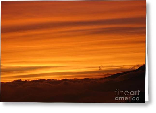 Sunset - Coucher De Soleil - Plaine Des Cafres - Ile De La Reunion - Reunion Island - Indian Ocean Greeting Card by Francoise Leandre
