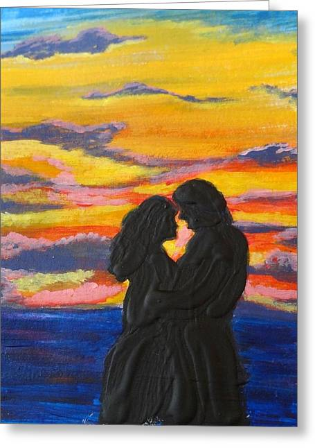 Sunset Couple Greeting Card