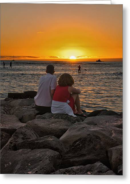 Greeting Card featuring the photograph Sunset Moment by John Swartz