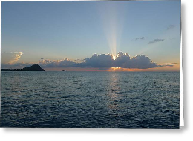 Sunset Cruise - St. Lucia 2 Greeting Card