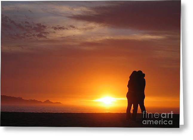 Sunset Cuddle Greeting Card