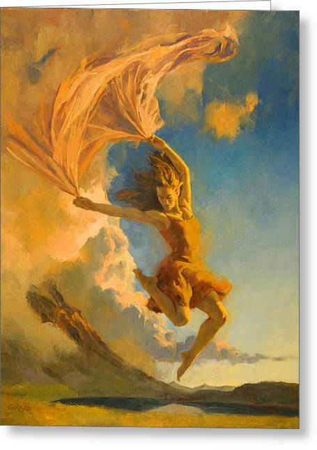 Sunset Dance Greeting Card by Francois Girard