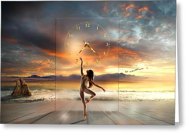 Greeting Card featuring the digital art Sunset Dancing by Franziskus Pfleghart