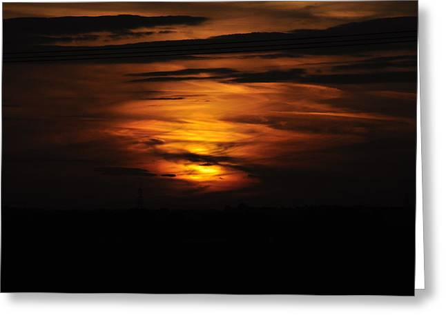 Fire In The Sky Greeting Card by David King
