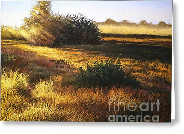 Sunset Greeting Card by Deb LaFogg-Docherty